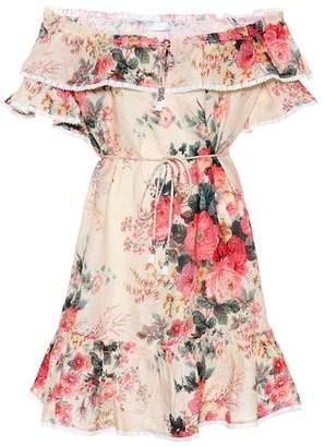 Zimmermann Floral printed linen dress