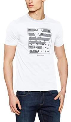 Armani Jeans Men's Regular Fit Jersey Square T-Shirt