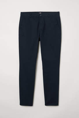H&M Slim Fit Cotton Chinos - Blue