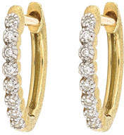 Jude Frances Delicate Provence Champagne Hoop Earrings, Gold