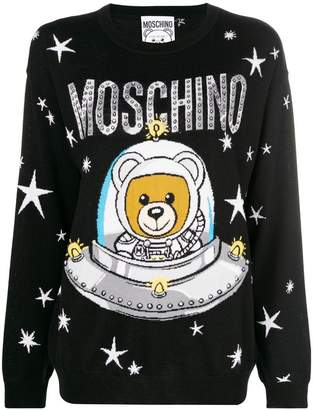 Moschino space teddy-print sweater