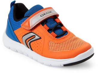 Geox Toddler/Kids Boys) Orange & Royal Xunday Mesh Sneakers