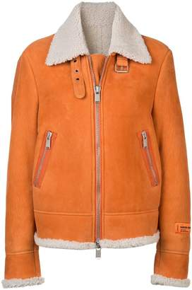 Heron Preston shearling collar jacket