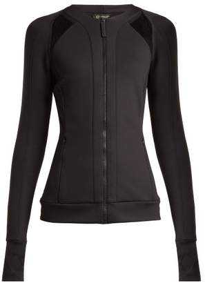 Versace Zip Through Jersey Performance Jacket - Womens - Black