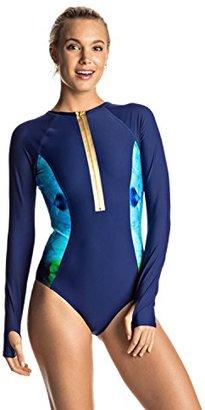 Roxy Women's Pop Surf Long Sleeve Onesie One Piece Swimsuit $89.50 thestylecure.com