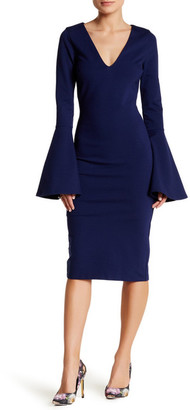 Just Me Bell Sleeve Bodycon Dress $99 thestylecure.com