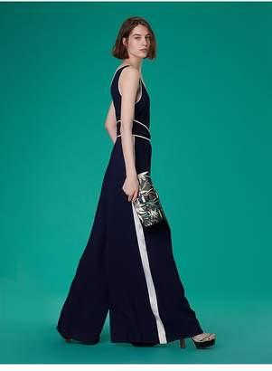 Diane von Furstenberg Wide Leg Belted Jumpsuit