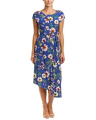 Donna Morgan Women's Side Tie Floral Dress