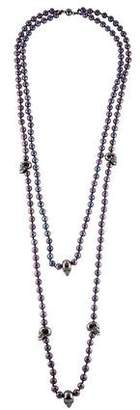 Alexander McQueen Pearl & Skull Double Strand Necklace