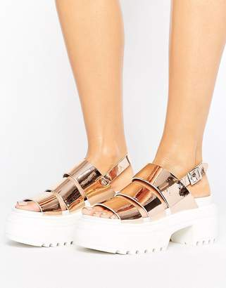 ASOS TARA Chunky Strappy Sandals $56 thestylecure.com