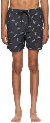 Ksubi Black Tresspass Swim Shorts