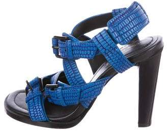 3.1 Phillip Lim Embossed Multistrap Sandals