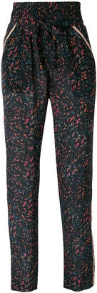 IRO floral print tapered trousers