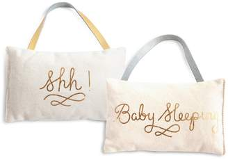 Rosanna Shh! Baby Sleeping Door Pillow
