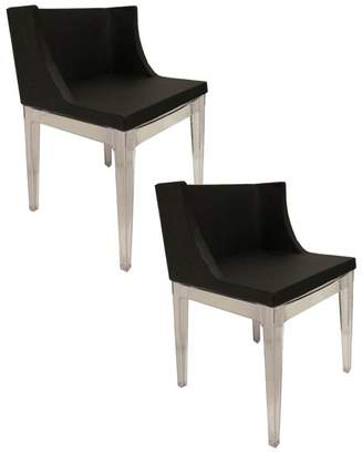 Pangea Home Marcia Faux Leather Dining Chairs, Set of 2