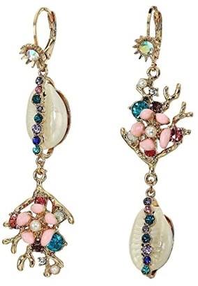 Betsey Johnson Non-Matching Shell Earrings