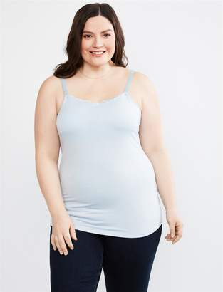 e4e35a5644cce Motherhood Maternity Jessica Simpson Plus Size Lace Trim Clip Down Nursing  Cami