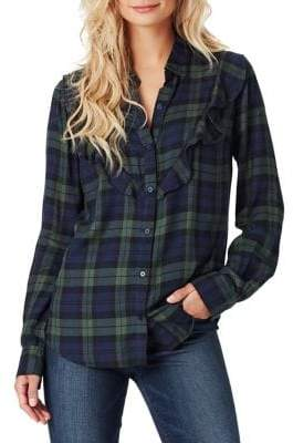 Jessica Simpson Petunia Plaid Button-Front Shirt