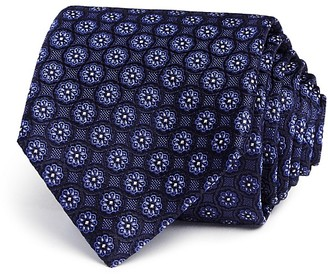 Canali Flower Medallion Classic Tie - 100% Exclusive $160 thestylecure.com