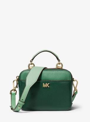 MICHAEL Michael Kors Mott Mini Color-Block Pebbled Leather Crossbody