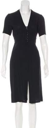 Paul & Joe Wool-Blend Midi Dress Black Wool-Blend Midi Dress