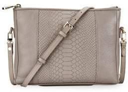 GiGi New York Hailey Embossed Python Convertible Crossbody Bag
