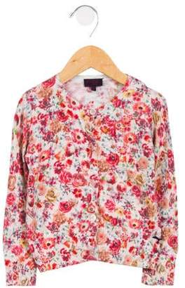 Paul Smith Girls' Floral Knit Cardigan