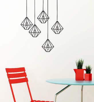 Little Sticker Boy Diamond Lights Wall Decal