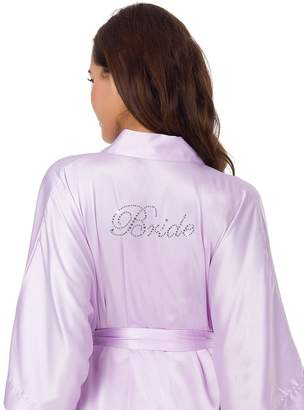 SIORO Robe Silk Satin Robe Kimono Robe Bridal Wedding Party Dressing Gowns Personalized Bride Pajamas, Mist, XL //ZS1604CPP02A//