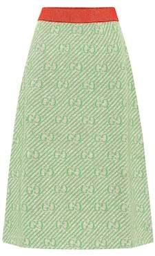 Gucci GG striped wool-blend skirt