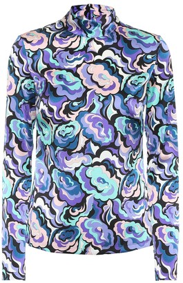 Emilio Pucci Stretch silk printed top