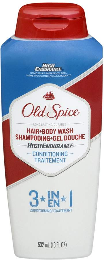 Old Spice High Endurance 3 in 1 Hair and Body Wash Conditioning by for Men - 18 oz Body Wash