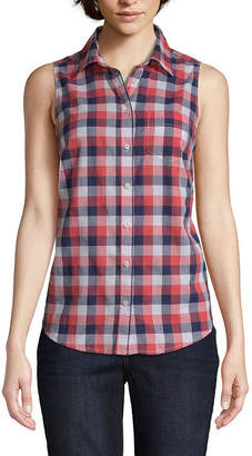 ST. JOHN'S BAY Sleeveless Shirt - Tall