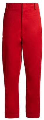 Etoile Isabel Marant Dysart High Rise Chino Trousers - Womens - Red