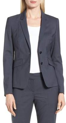BOSS Jalouise Pepita Stretch Wool Suit Jacket