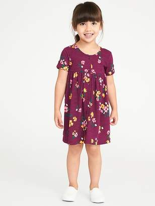 Old Navy Fit & Flare Button-Front Dress for Toddler Girls