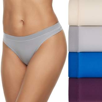 Fruit of the Loom Women's 4-pack Signature Everlight Thong Panty 4DELSTH