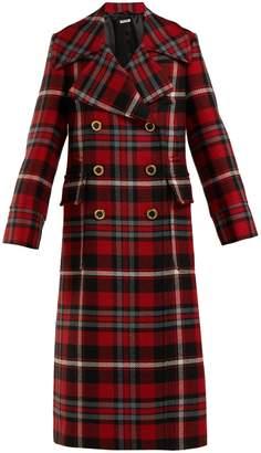 Miu Miu Wool-mohair tartan coat