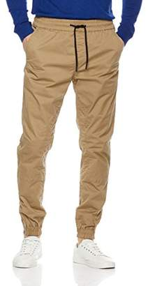 Wood Paper Company Men's Jogger Pant In Cotton Spandex With Zipper On Legs