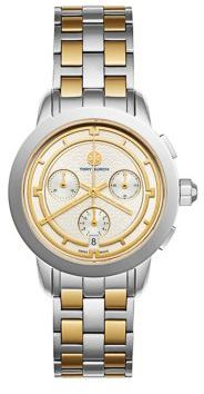 Tory BurchTory Burch Tory Chronograph Two-Tone Stainless Steel Bracelet Watch