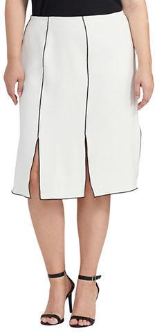 Lauren Ralph LaurenLauren Ralph Lauren Plus Rhean Slit-Design Skirt
