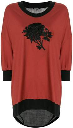 Ann Demeulemeester sheer back embroidered sweatshirt