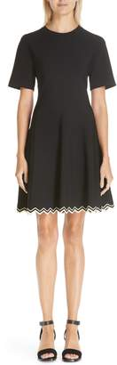 Proenza Schouler Chevron Hem A-Line Dress