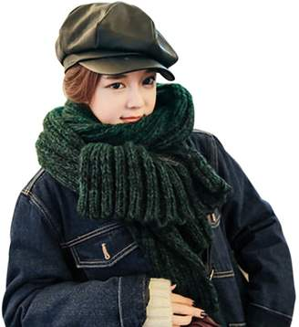 Benetton Greenery Women Men's Winter Thick Knitting Wool Long Scarf Neck Warmer Wrap Shawl)