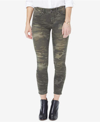 NYDJ Amy Tummy-Control Camouflage Ankle Jeans