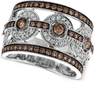 LeVian Le Vian Chocolatier Chocolate Deco Estate Diamond Ring (1-1/4 ct. t.w.) in 14k White Gold