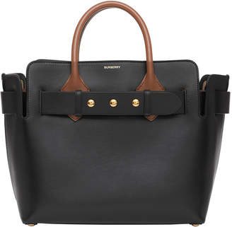 Burberry Marais Small Belted Leather Satchel Bag