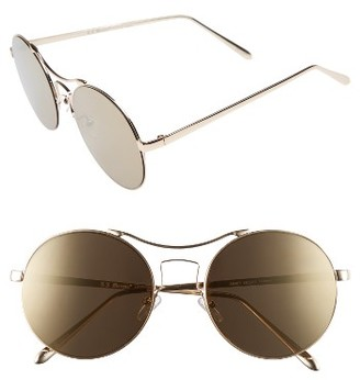 Women's A.j. Morgan Spacey 56Mm Sunglasses - Gold $24 thestylecure.com