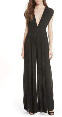 Tracy Reese Pleated Wide Leg Jumpsuit