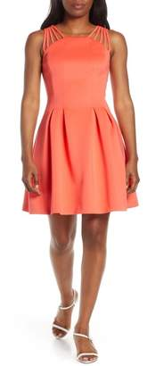 Vince Camuto Fit & Flare Scuba Dress